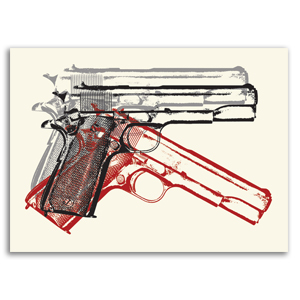 Three American Guns Print