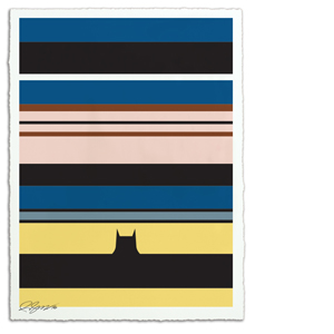 Linear Batman Print