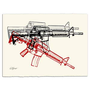 3 American Guns Revisited Print