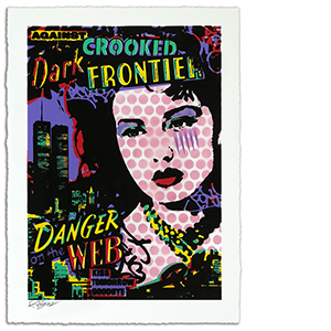 Against the Dark Crooked Frontier Print
